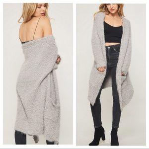 🌟🌟Silver popcorn knit fuzzy